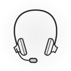 Illustration: a headset with microphone