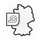 Illustration: a map of Germany with the bett1.de logo